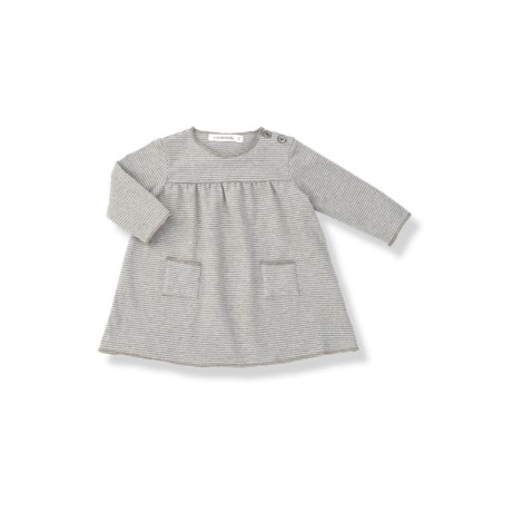 Vestido bebé bolsillos LOLA agua
