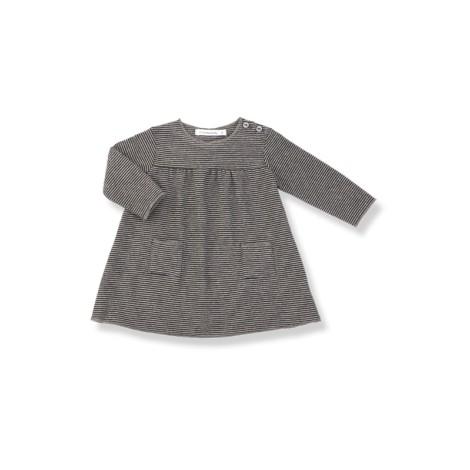 Vestido bebé bolsillos LOLA antracita