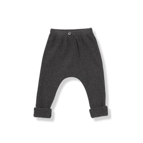 Pantalón bebé MARTIN antracita canalé 2x1