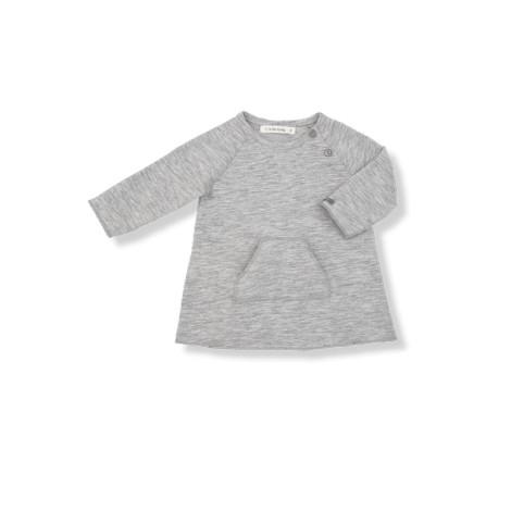 Vestido bebé bolsillo MEGGY gris claro