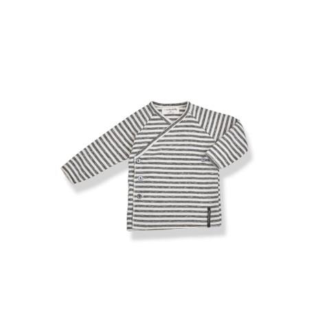 Camiseta jubón primera puesta MOMO rayas antracita