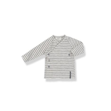 Camiseta jubón 1ª puesta MOMO rayas gris claro