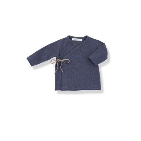 Camiseta bebé jubón lazo MYLA azul