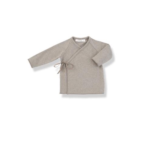Camiseta bebé jubón lazo MYLA beige