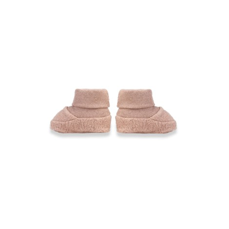 Calcetines patucos bebé NANO felpa suave rosa
