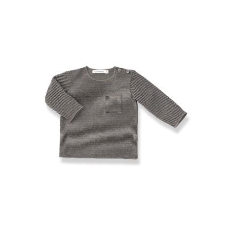 Camiseta bebé M/L bolsillo ORIOL antracita