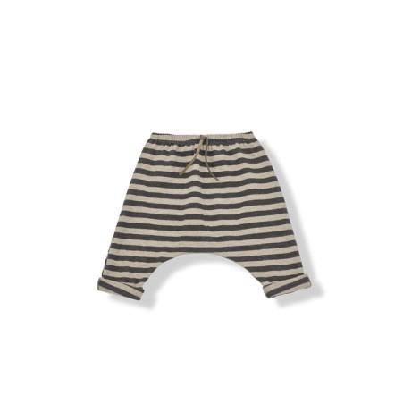 Pantalon bebé rayas ancho SAMMY antracita