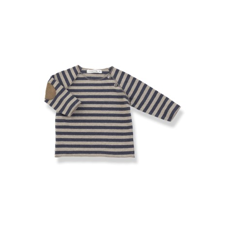 Camiseta bebé TIM azul coderas rayas y M/L