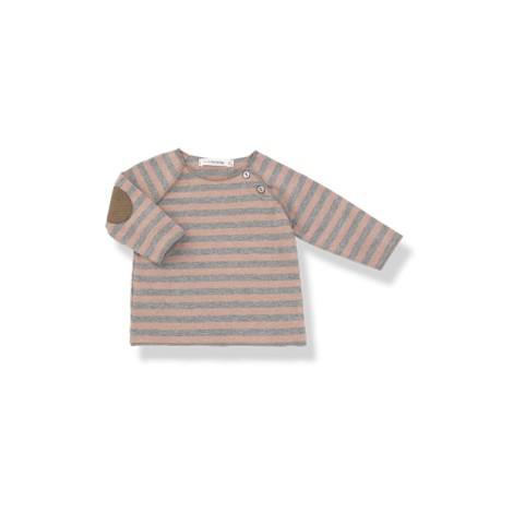 Camiseta bebé TIM rosa coderas rayas y M/L