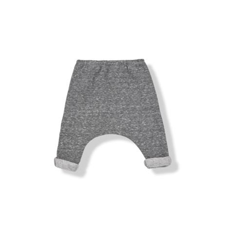 Pantalón bebé baggy TRISTAN felpa antracita