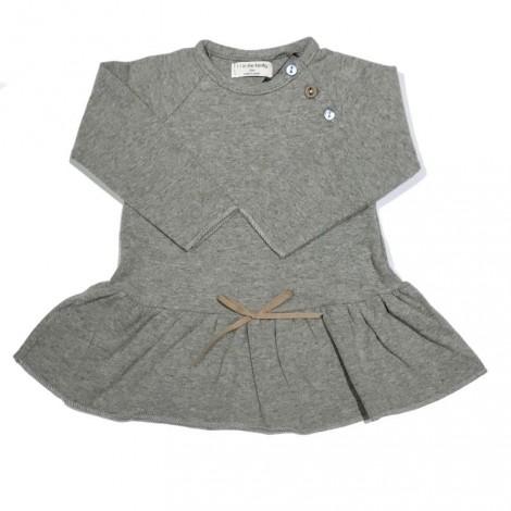 Vestido bebé lazo LIZ gris