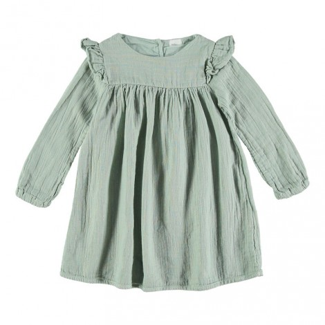 Vestido niña GABRIELA doble tejido en celadon