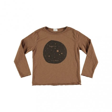 Camiseta infantil ANDY HAPPINESS caramel