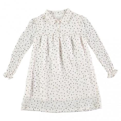 Vestido niña CHLOE TALC en algodón arrugado