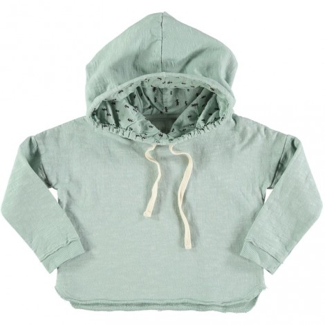 Sudadera infantil capucha ORSON gris celadon