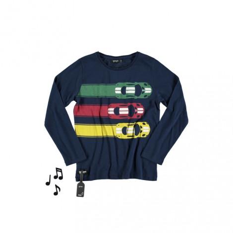 Camiseta infantil sonido CARS RACE M/L navy