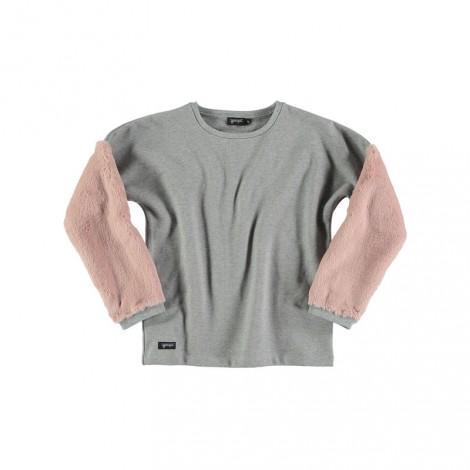 Jersey niña FUR SWEATER gris/rosa