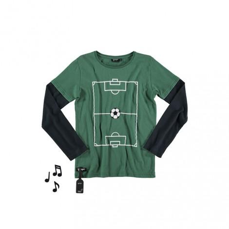 Camiseta infantil sonido GOAL M/L green+black