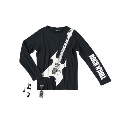 Camiseta infantil sonido HEAVY GUITAR M/L black
