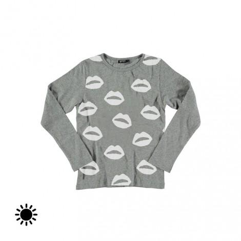 Camiseta infantil solar LIPS M/L gris vigoré