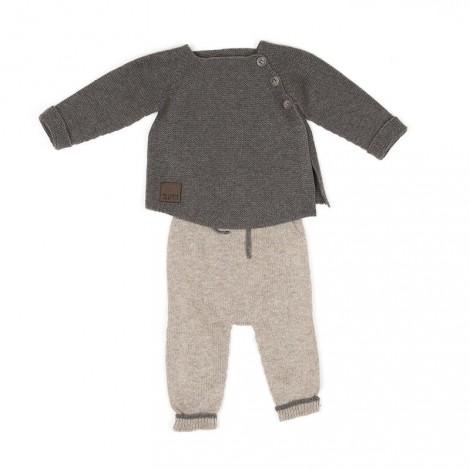 Conjunto bebé LEROY tricot camiseta y pantalón