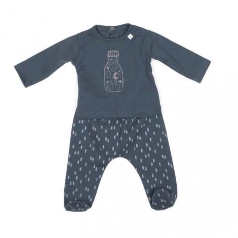 Pijama bebé ORLANDO METALLIC BLUE