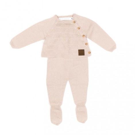 Conjunto bebé ORSAY tricot NUT camiseta y pantalón