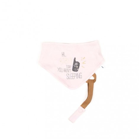 Babero bebé SIMPLEBACH tipo bandana rosa palo