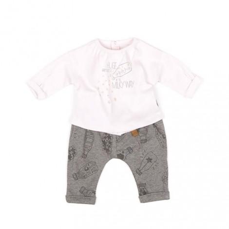 Conjunto bebé VALENTINA camiseta rosa y pantalón