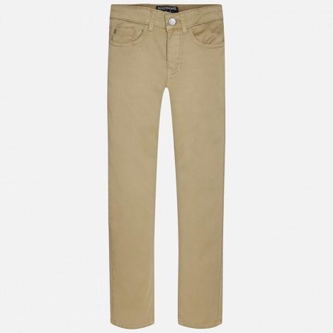 Pantalón sarga niño 5b básico color Tostado