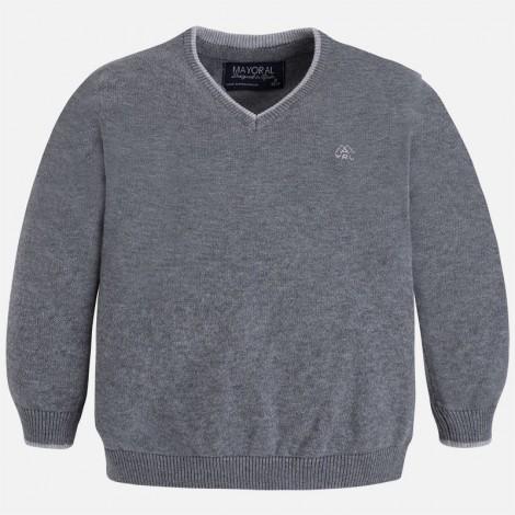 Jersey niño algodón c/pico básico color Hierro vig