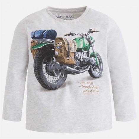 Camiseta niño m/l moto color Piedra vig