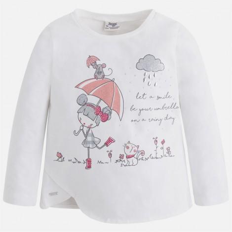 Camiseta niña m/l muñeca paraguas color Crd-chicle