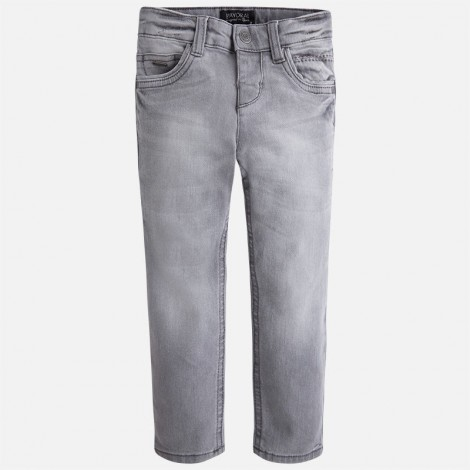 Pantalón tejano slim fit niño color Gris