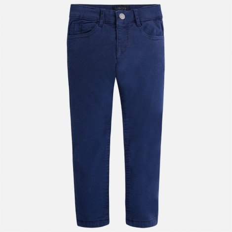 Pantalón niño estructura forrado color Azul