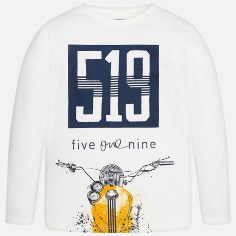 Camiseta niño m/l 519 color Nata