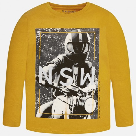 Camiseta niño m/l casco color Curcuma