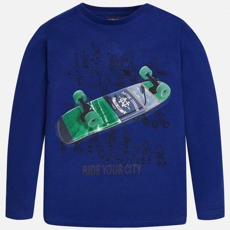 Camiseta niño m/l ride color Zafiro