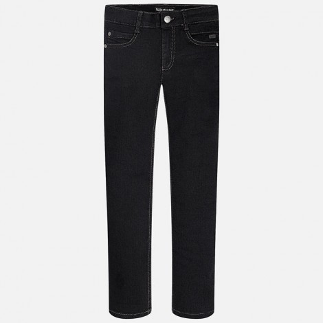 Pantalón tejano niño super slim color Negro