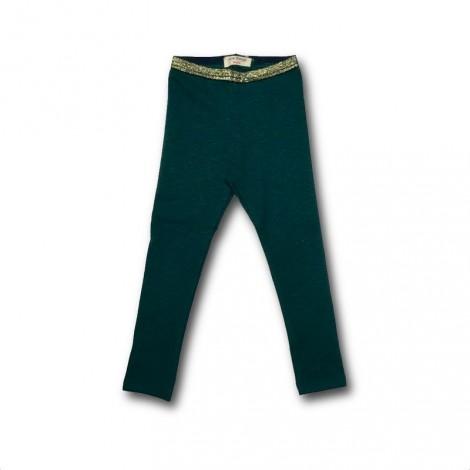 Pantalón legging niña BÁSICO verde oscuro