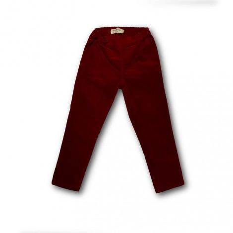 Pantalón legging niña TERCIOPELO rojo oscuro