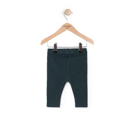 Pantalón legging bebé BÁSICO verde oscuro
