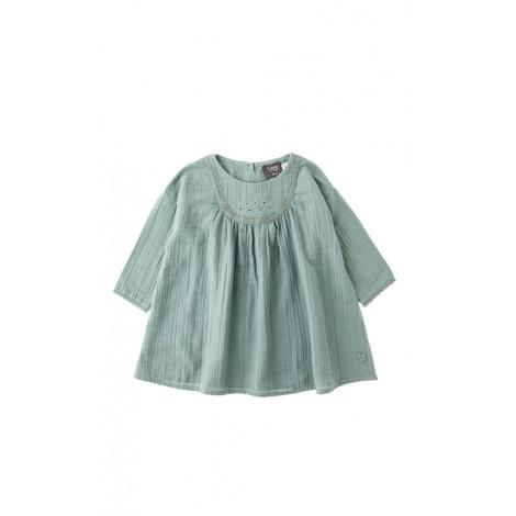 Vestido bebé LACE verde agua