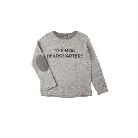 Camiseta niño M/L coderas gris