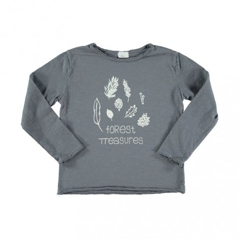 Camiseta infantil ANDY FOREST TREASURES gris