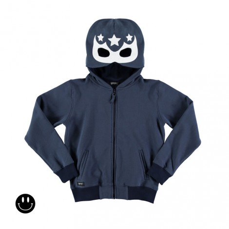 Sudadera infantil SUPER HOODIE azul con capucha