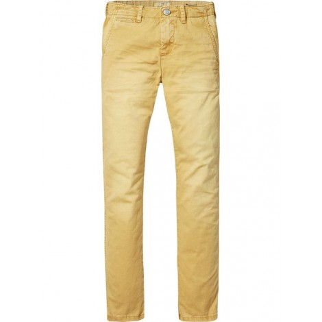 Pantalón chino lavado niño REGULAR slim honey