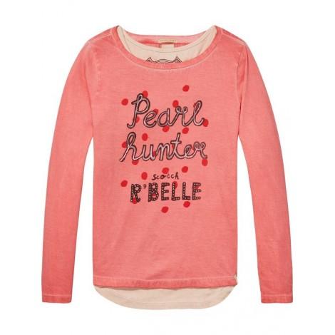 Camiseta niña 2 en 1 PEARL teñida en frío