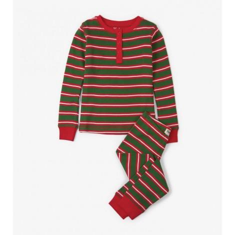 Pijama niño SANTA STRIPE 2 piezas orgánico