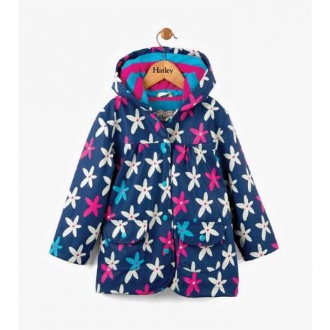Parka impermeable niña STARFLOWERS capucha